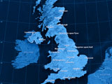 Map of UK cities