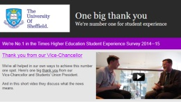 Newsletter about number one for student experience