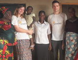 Students from the University of Sheffield during a recent trip to Nigeria with Enactus Sheffield