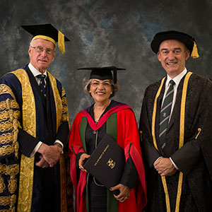 Sir Peter Middleton, Alev Yaraman and Professor Mike Hounslow