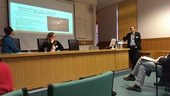 Dr Mark Payne at the launch of the University of Sheffield Migration Research Group, 31 Jan 2014
