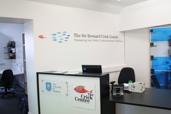 Picture of the Crick Centre reception area