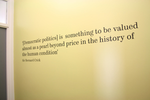 Picture of quote in the Crick Centre