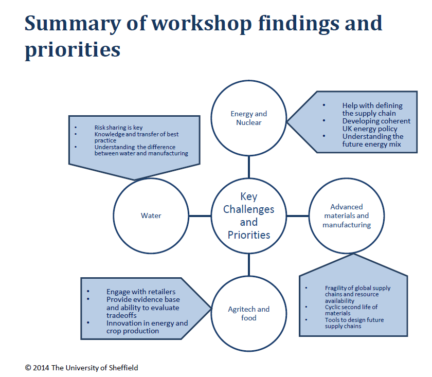 Summary diagram showing outcomes of the workshop