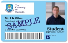 Picture: example of a UCard: a credit card sized identity card.