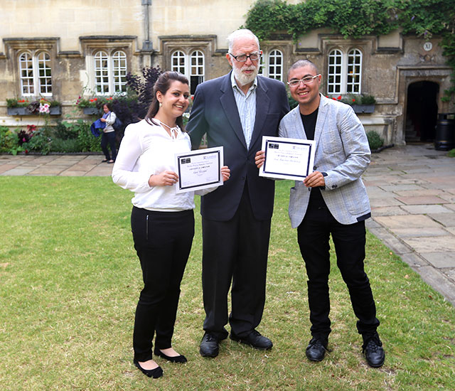 Sara Fayyad and José Antonio Brambila at the Annenberg-Oxford Media Policy Summer Institute