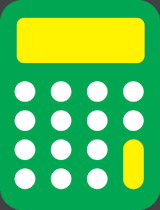 Calculator graphic