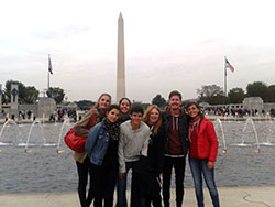 Lauren and friends at the Obelisk in Washington DC