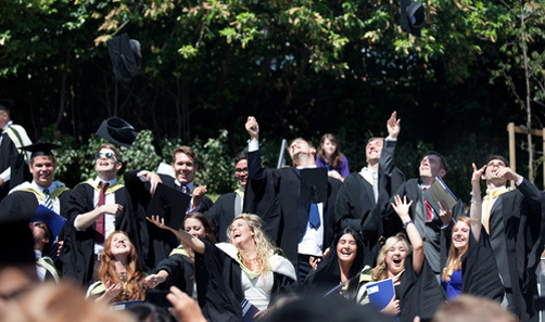 Picture of students celebrating their graduation