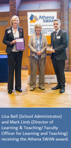 Receiving Athena Swan award