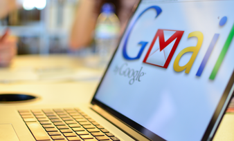 Gmail on a laptop