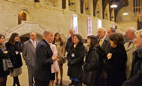 Alumni on the tour of the Houses of Parliament