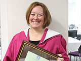 Picture of Susan Molyneux-Hodgson with Senate Award