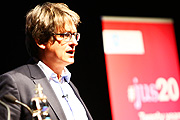 Alan Rusbridger at our 20th birthday lecture
