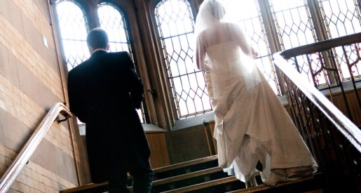 Firth Court Stairs Wedding