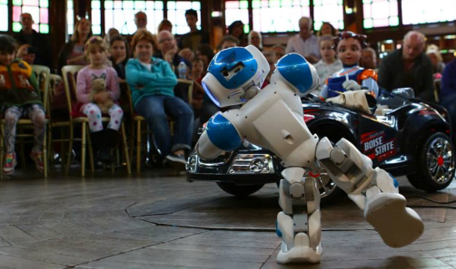 Robotics display in the spiegeltent