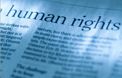 Photo of paper on Human Rights
