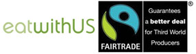 Fairtrade and eatwithUS logo