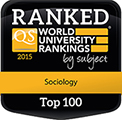 QS World Rankings by Subject 2015 Top 100 badge