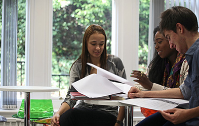 Picture of students in the Elmfield Common Room