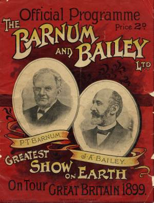 Pt barnum research and articles national fairground and circus barnum and bailey official programme 1899 stopboris Image collections