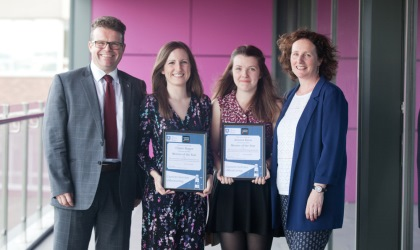 eMentoring award winners Clare Roper and Jessica Keen