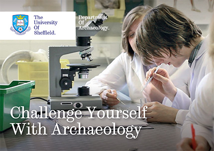 Challenge yourself with Archaeology postcard