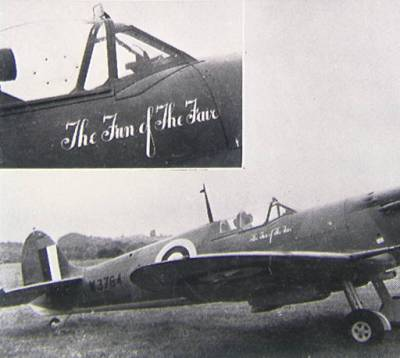 Spitfire 'The Fun of the Fair' donated to the Nation by the Showmen's Guild of Great Britain, 1945