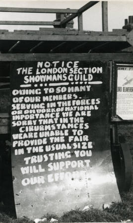 London Section War Time Notice 3rd May 1941