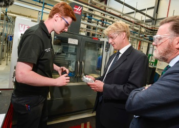 Minister Jo Johnson and Vice-Chancellor Professor Sir Keith Burnett