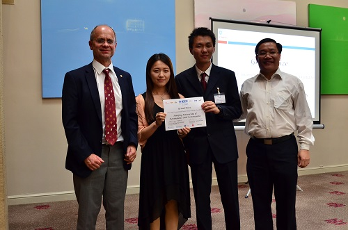 A picture of the Grand Prize Winners with the PELS President and Professor Qing-Chang Zhong