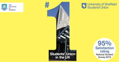 Sheffield Students' Union voted number one in National Students Survey 2015