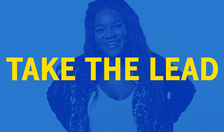 Central image for Take the lead campaign