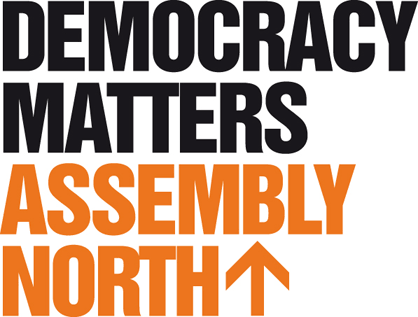 The Democracy Matters logo.