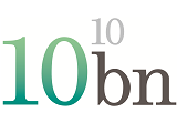 10 billion logo