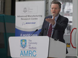 Professor Sir Keith Burnett CBE FRS FLSW speaking at the AMRC