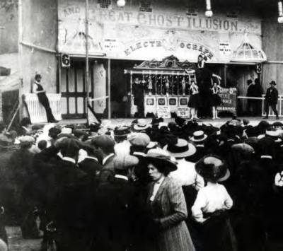 Chipperfield's Ghost Show circa 1908