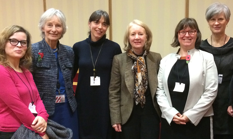 Dr Nicola Dempsey (centre) at the House of Lords on 10th November