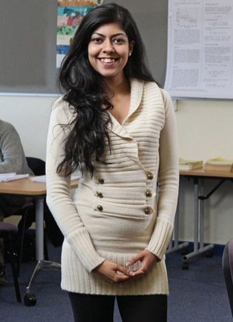 Swarna Khare, postgraduate students in the Department of Mathematics and Statistics