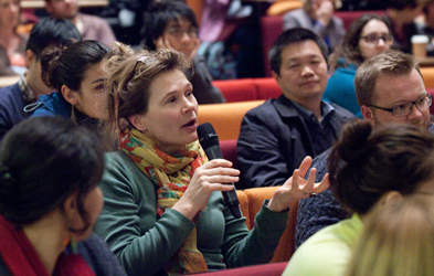 Photo of people at a panel discussion