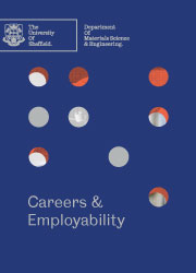 Blue background with Careers and Employability text