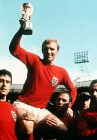 Bobby Moore lifts the World Cup in 1966