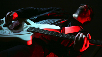 3D printed electric guitar for indie rock band Klaxons