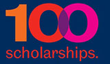 100 scholarships logo
