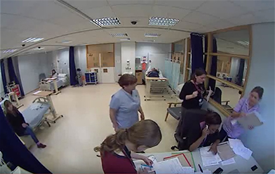 simulated ward experience with our students