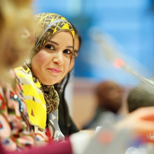 Dr Amal Al Qubaisi. Image credit Women in Parliaments Global Forum and the European Parliament