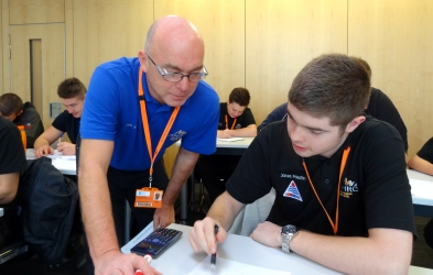 Photo of apprentices learning maths at the AMRC