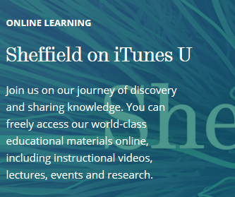 An image of the Sheffiled iTunesU brand