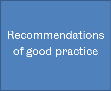 Recommendations of good practice