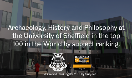 Archaeology, History and Philosophy at the University of Sheffield in the top 100 in the World by su
